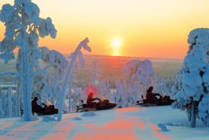 Laponia finlandesa: puente de diciembre en Muomio