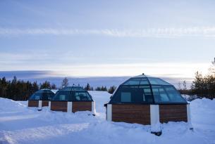 Laponia, Rovaniemi Aldea de Papá Noel e igloo de cristal.