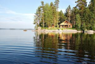 Finlandia cabañas en los lagos, Lago Saimaa