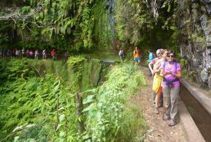 Senderismo en grupo en la Isla de Madeira (Portugal)