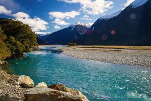 Toda Nueva Zelanda el grupo reducido: Bay of Islands y la Región de los Glaciares