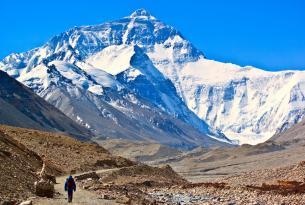 Cara Norte del Monte Everest en el Tibet