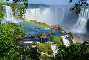 Cataratas de Iguazú desde Argentina y Brasil