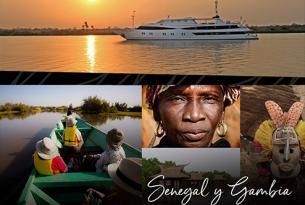 Crucero boutique en Senegal y Gambia a bordo de un mega yate