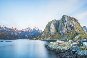 Lofoten: auroras boreales y trineo de perros en Noruega (aventura confort)