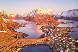 Suecia y Noruega en otoño: trineo de perros en Kiruna y auroras boreales en Lofoten