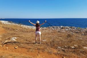 Italia: senderismo en la costa de Apulia