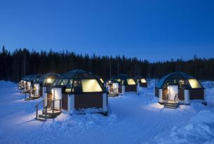 Experiencia en Laponia con Iglú de Cristal
