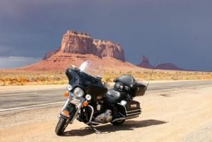 Viaje en moto Ruta 66 Oeste Americano. a tu aire con hoteles en ruta