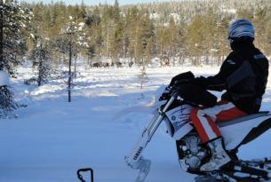 Viaje en moto Suecia Círculo Ártico