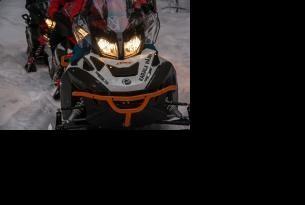 Viaje en moto Rusia Karelia en moto de Nieve