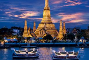 Grandes ciudades del sudeste asiático: Bangkok (Tailandia), Kuala Lumpur (Malasia) y Singapur