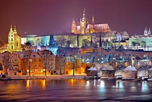 Puente diciembre en Praga desde Barcelona